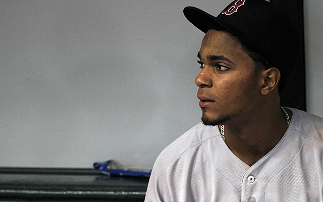 A hamstring cramp chased Xander Bogaerts from Saturday's game.