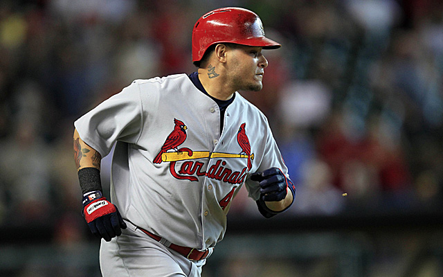 Yadier Molina is back from the DL for the Cardinals.