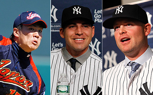 Tanaka, Ellsbury and McCann are now highly-paid Yankees.