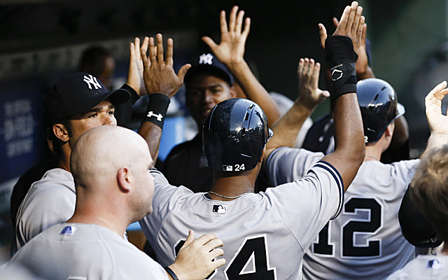 The Yankees scored a few runs Wednesday night.