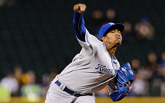 The fifth man in the Kansas City rotation is phenom Yordano Ventura.
