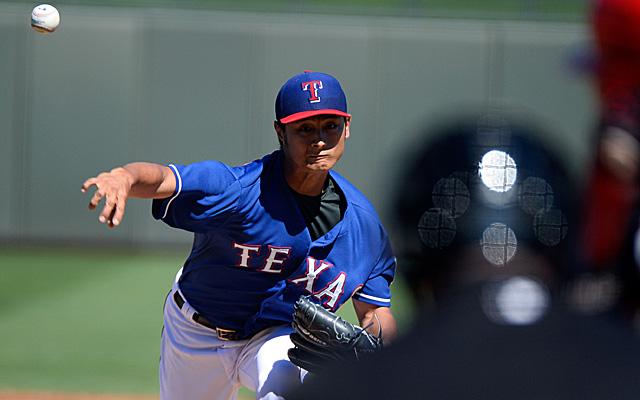 Yu Darvish will start for the Rangers Sunday.