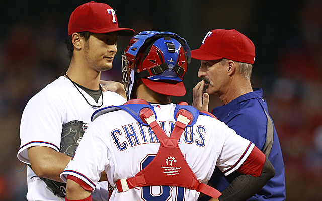 Yu Darvish had a rough outing against the A's Thursday.