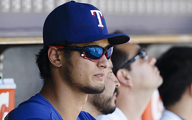 Yu Darvish won't be making his scheduled start Tuesday.