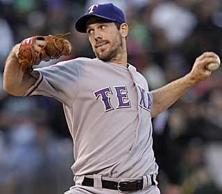 The Rangers workhorse Cliff Lee pitches at least eight innings for the 10th consecutive start. (AP)