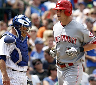 Drew Stubbs breaks the tie in the eighth inning with a home run for the Central-leading Reds.  (AP)