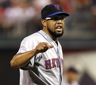 Mets closer Francisco Rodriguez records the final five outs to earn his 24th save of the season.  (AP)