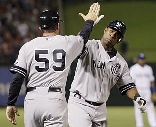 Marcus Thames provides a couple of clutch at-bats, including a home run and a go-ahead RBI single.  (AP)