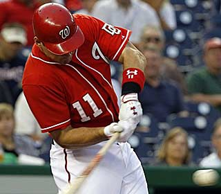 Ryan Zimmerman drives in two runs for the Nationals, who snap a five-game losing streak. (AP)