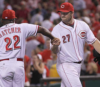 Job well done. Scott Rolen helps the Reds get the win after going 3 for 4 with two RBI. (AP)