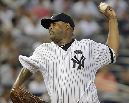 Yankees ace CC Sabathia becomes the AL's first 16-game winner and moves to 14-0 in his past 19 regular-season starts at home.  (AP)
