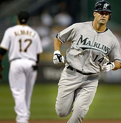 Gaby Sanchez's three-run HR is the big blow as the Marlins take three of four from the reeling Pirates. (AP)