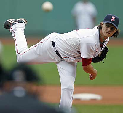 Clay Buchholz pitches six innings, allowing just five hits and no runs to trim his already AL-best ERA to 2.26. (AP)
