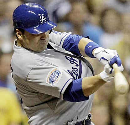 After being claimed from the Mets on Sunday, Rod Barajas hits a three run jack in his Dodgers debut. (AP)