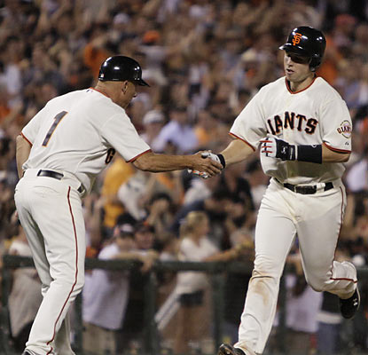 Catcher Buster Posey continues his stellar rookie campaign with another solid performance that includes a three-run home run. (AP)
