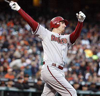 Adam LaRoche takes a long look at his 22nd homer of the season to help the slumping Diamondbacks.  (AP)