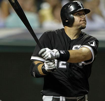 A.J. Pierzynski hits a three-run homer in the ninth with Manny Ramirez waiting to make his White Sox debut as a pinch hitter. (AP)