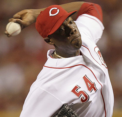 Aroldis Chapman throws more heat on Wednesday and also picks up his first big-league win. (AP)