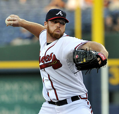 The Braves' Tommy Hanson gives up just one hit in seven shutout innings to earn his first win in nearly two months.  (AP)