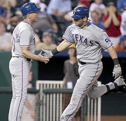Mitch Moreland isn't acting like a typical rookie as the new Ranger goes yard for the second night in a row.  (AP)