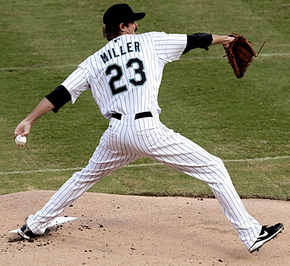 Andrew Miller pitches five innings, allows just one run and collects his first win since July 4, 2009. (US Presswire)