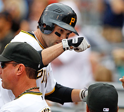 Neil Walker gives the Pirates all the offense they need against the Braves with a two-run home run in the sixth inning.  (Getty Images)