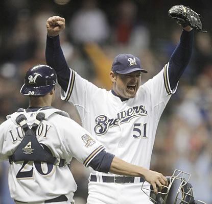 All-time saves leader Trevor Hoffman reaches the 600 milestone. 'What a feeling! It's hard to describe this moment,' he said. (AP)