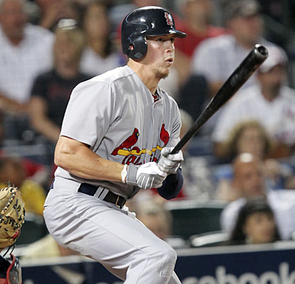 Colby Rasmus carries the Cardinals offense, going 4 for 4 with two homers and four RBI.  (AP)