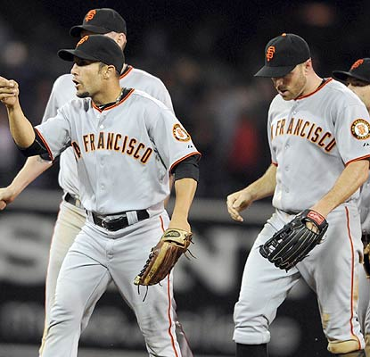 The Giants are rolling now. They take the first two of this four-game set and earn their 80th win. (US Presswire)