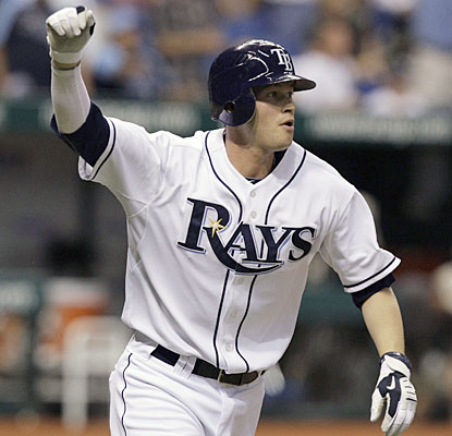 Reid Brignac's seventh homer of the season is a dramatic one, lifting the Rays in the 11th.  (AP)
