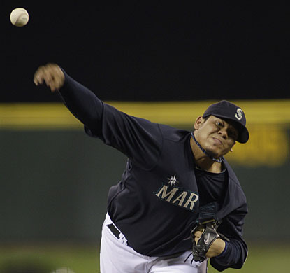 Felix Hernandez gets close to a no-hitter, but in the end settles for a three-hitter and the win. (AP)