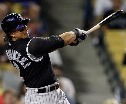 Troy Tulowitzki takes it out of the park for his 12th home run in the month of September. (US Presswire)