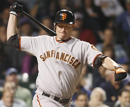 Aubrey Huff personifies the Giants' frustration -- four of their past five losses have been by shutout.  (AP)