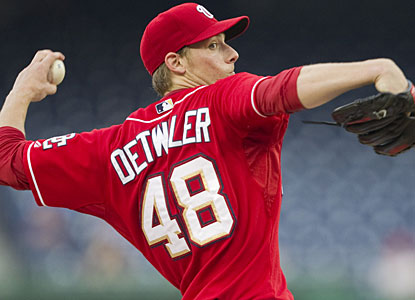 After missing most of the season due to hip surgery, Ross Detwiler gets his first win since last September. (AP)