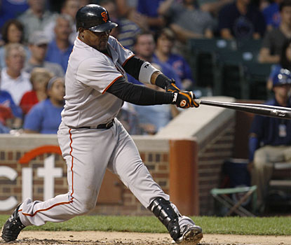 Before these two home runs, Juan Uribe managed just two hits in his previous 21 at-bats for San Francisco. (AP)