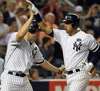 With two homers, Alex Rodriguez (right) is up to 610 to pass Sammy Sosa for sixth place on the career list. (US Presswire)