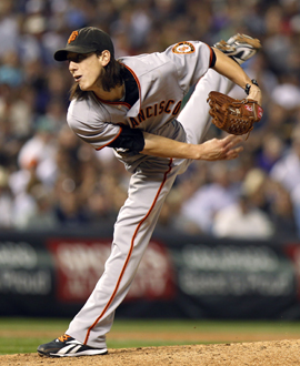 Tim Lincecum finds his form in time to help the Giants' playoff push. (Getty Images)
