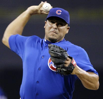 Carlos Zambrano continues dealing since his return to the rotation, winning a seventh consecutive decision.  (AP)