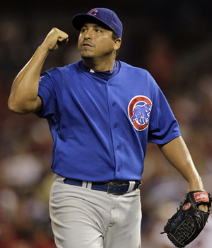 The Cubs may be looking to move the ill-tempered Carlos Zambrano in the offseason. (AP)