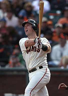 Rookie Buster Posey gets the slight edge over Jason Heyward in the NL. (Getty Images)