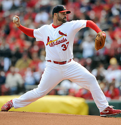 Jeff Suppan improves to 7-2 against the Rockies, throwing six scoreless innings.   (AP)