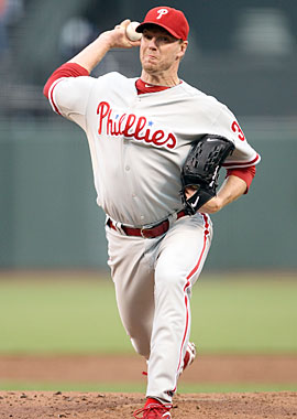 'I'm just proud we're still playing,' Roy Halladay says after his Game 5 win. (Getty Images)