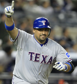 Bengie Molina battles his old team on baseball's biggest stage. (AP)