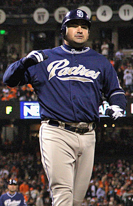 The Padres, surprise contenders in 2010, kept Adrian Gonzalez for the push. (Getty Images)
