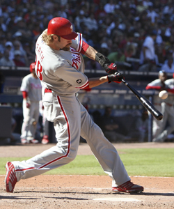 Werth played for the Blue Jays and the Dodgers before becoming an All-Star with the Phils in '09. (Getty Images)