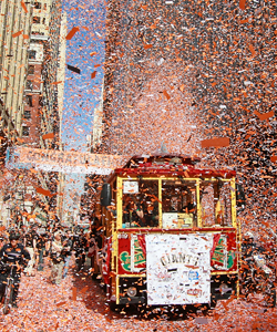 The city of San Francisco throws the 2010 Giants a victory parade after winning the World Series. (Getty Images)
