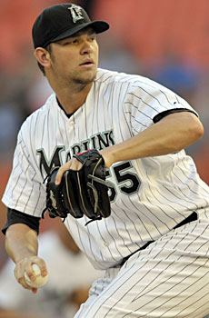 If he can stay healthy, Josh Johnson gives the Marlins one of the top pitchers in the National League. (US Presswire)