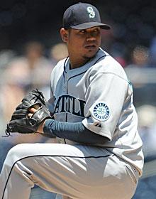Felix Hernandez led the majors with a 2.27 ERA last season. (US Presswire)