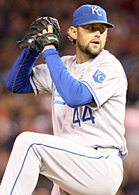 Luke Hochevar, 6-6 last year, is likely to be K.C.'s ace with Zack Greinke gone. (US Presswire)