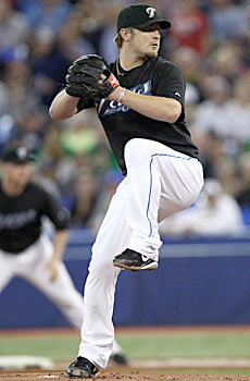 Kyle Drabek, acquired in a Roy Halladay trade, could make the rotation out of spring training. (US Presswire)